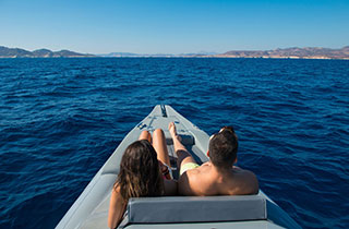 Private cruise with a RIB to Milos and Poliegos